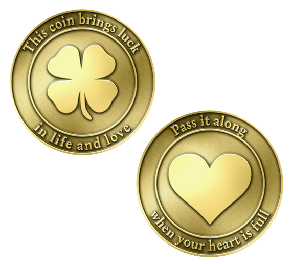 Lucky Coin   Front and Back